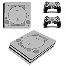 PS4 Pro Console and DualShock 4 Controller Skin Sticker Decal Set - Sony Old PS1 - PlayStation pro Vinyl