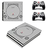 UUShop Vinyl Skin Sticker Decal Cover for Sony PlayStation PS4 PRO Console Sony Old PS1