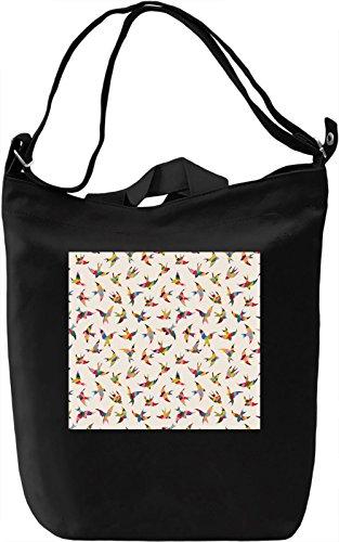 Birds Print Borsa Giornaliera Canvas Canvas Day Bag| 100% Premium Cotton Canvas| DTG Printing|