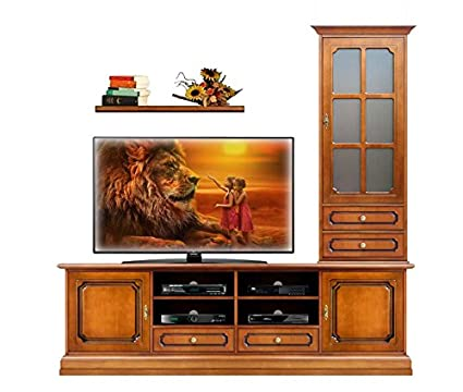 Arteferretto Composizione mobili parete soggiorno stile classico ...