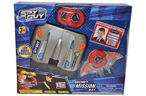 (Spy Guy 10 Piece Toy Secret Mission Set with Look Around Binoculars (Binoculars))