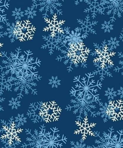 Dark Blue Fleece Fabric (VelvaFleece Blizzard Dark Blue Snow Fleece Fabric Print by the Yard)