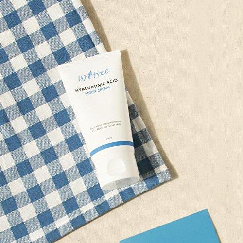ISNTREE Hyaluronic Acid Moist Cream 2.03 fl. oz., Night Cream, Day Cream, Deep Moisturizing, Skin Protection, Nourishing