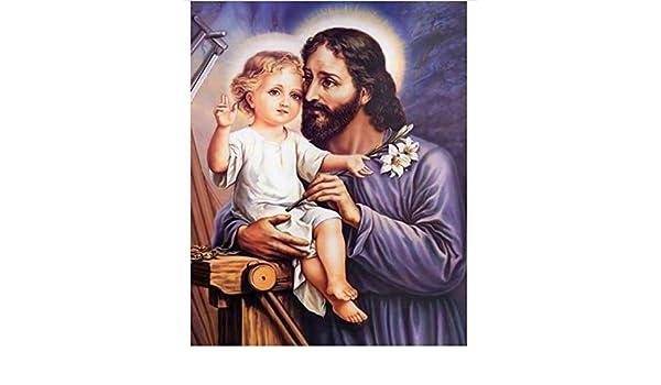 Jesús y el niño 5D Diy Diamante Pintura punto de cruz ...