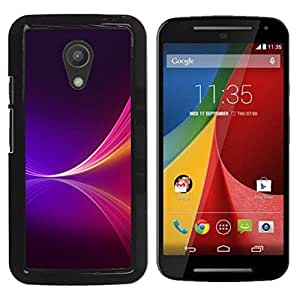 Motorola Moto G2 II / Moto G (2nd gen) / Moto G (2014) , Radio-Star - Cáscara Funda Case Caso De Plástico (Neon Purple Splash)