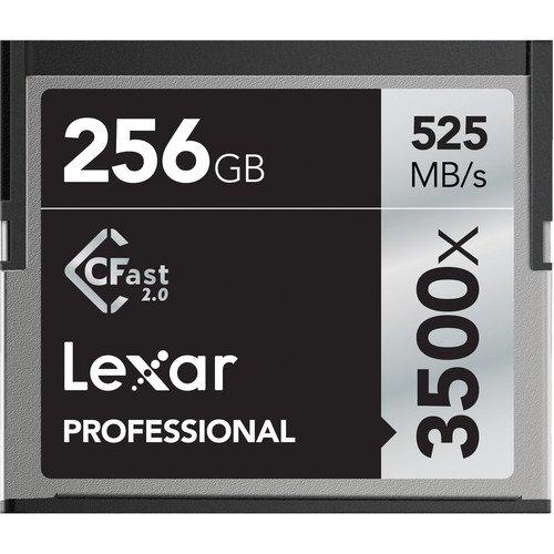 Lexar 256GB Professional 3500x CFast 2.0 Memory Card for 4K