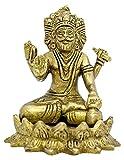 The Holy Mart Brahma Brass Idol (11 cm high) Lord Brahma Statue in Pure Brass