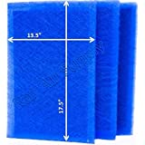 StratosAire Air Cleaner Replacement Filter Pads 15x20 Refills (3 Pack) BLUE