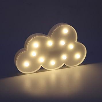 Liqy Lampe Nuage Lumineux Bébé Enfant Led Neonveilleuse Nuage Lampe