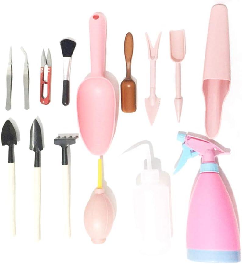 Kit jardineria, Fellibay jardineria herramientas para Mujer (15 Piezas), Rosa