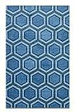 Mohawk Precision Printed Prismatic Honeycomb Geo Area Rug, 5'x8', Teal