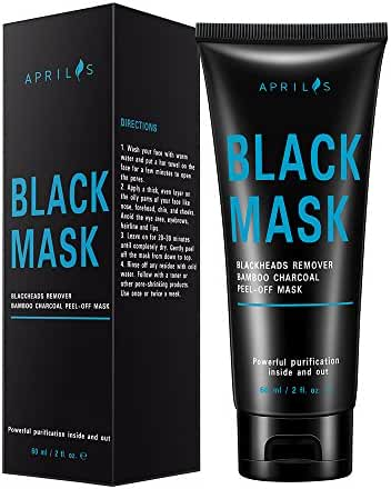 Blackhead Remover Mask, Peel off Mask with Bamboo Charcoal, Black Mask for Nose and Face Deep Pores Cleansing and Oil Control, Painless & Easy to Remove, 60 ml/2 fl. oz