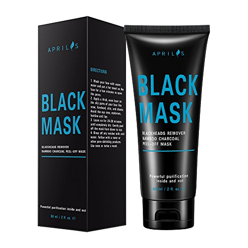 Price comparison product image Blackhead Remover Mask, Peel off Mask with Bamboo Charcoal, Black Mask for Nose and Face Deep Pores Cleansing and Oil Control, Painless & Easy to Remove, 60 ml/2 fl. oz