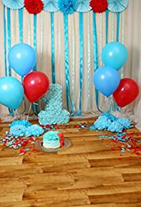 8x8FT Vinyl Backdrop Photographer,Jade Green,Doodle Style Flowers Background for Baby Birthday Party Wedding Graduation Home Decoration
