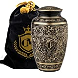 Majestic Radiance 100% Brass Cremation Urn for Human Ashes Large and Small (Large)…