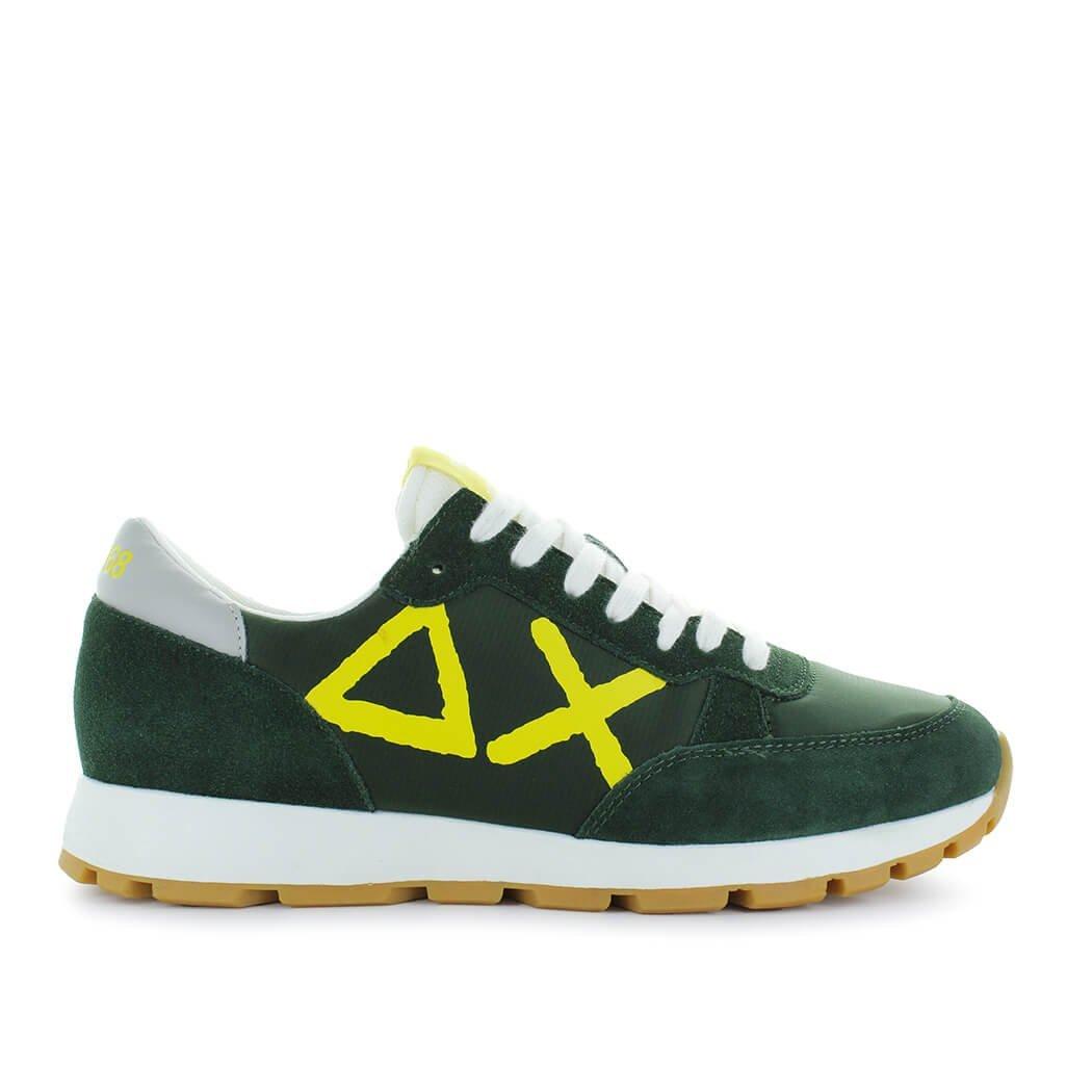 Zapatos de Hombre Zapatilla Track Big Logo Verde/Amarillo Sun68 Primavera Verano 2018 45 EU