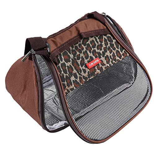 (AIkong Hamster Rat Hedgehog Chinchilla Ferret Carrier Packet Bag Sleeping Hanging Bag Black)