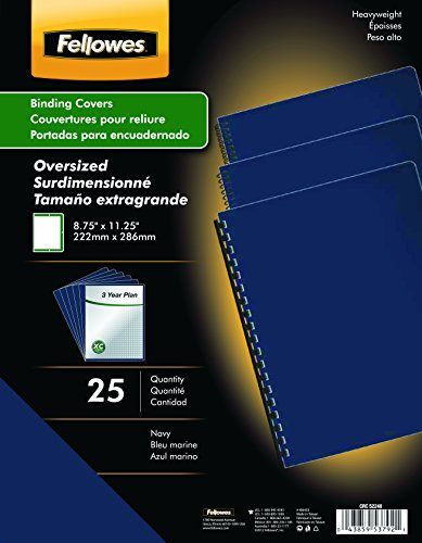 Fellowes Futura Presentation Covers - Oversize, Navy, 25 pack