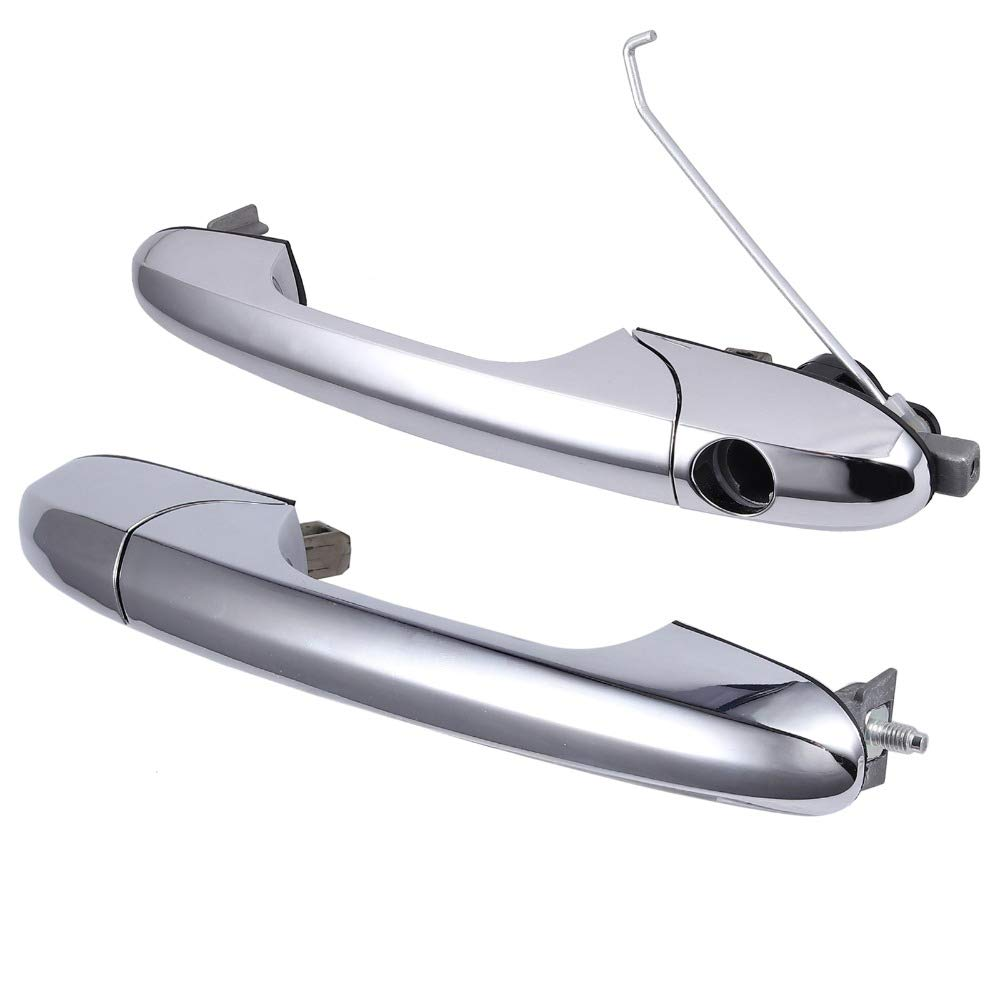 Pair of Chrome Exterior Outer Door Handle For F-iat 500 Left /& Right 735592026 735592012