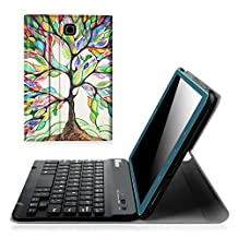 Fintie Samsung Galaxy Tab A 8.0 (2015) Keyboard Case - Slim Shell Light Weight Stand Cover with Magnetically Detachable Wireless Bluetooth Keyboard for Tab A 8.0 (NOT Fit 2017 Tab A 8.0), Love Tree