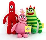 Yo Gabba Gabba Set of 3 Plush Dolls Muno Brobee & Foofa 9 inches