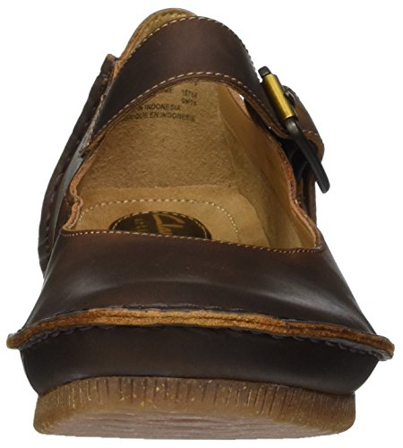 Beeswax Clarks Donna Scarpe T Tacco Janey col Marrone Cinturino con a Leather June gnPTzqrg
