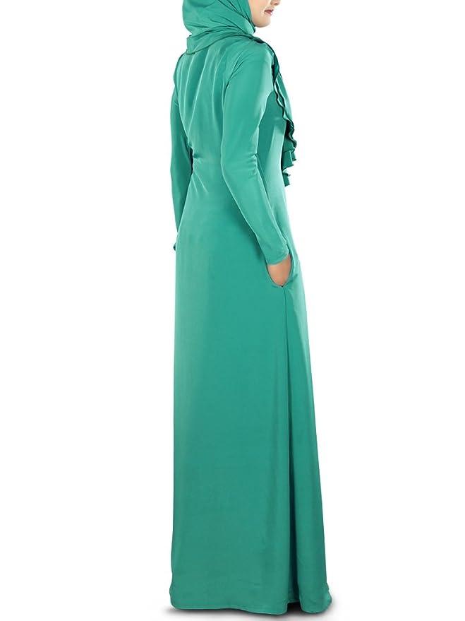 MyBatua botella verde elegante desgaste casual hermoso abaya burqa vestido AY-280: Amazon.es: Ropa y accesorios