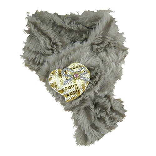 - Winter Warm Soft Dog Puppy Cat Heart Bowknot Furry Pet Scarf Muffler Costume