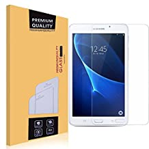 Samsung Galaxy Tab A 7.0 Glass Screen Protector,EasyULT Premium Tempered Glass Screen Protector for Samsung Galaxy Tab A 7.0-[Tempered Glass][Ultra Clear][9H Hardness] [Crystal Clear][Scratch-Resistant] [Easy-Install Wing]