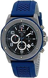 Bulova Marine Star Men's Rubber Strap Chronograph Watch BL 98B246