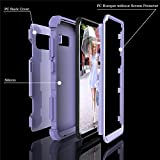 Samsung Galaxy S8 Plus Case, VPR 3 in 1 Hybrid Cover Hard PC Soft Silicone Rubber Heavy Duty Shock Absorbing Protective Defender Case for Samsung Galaxy S8 + Plus (2017) 6.2 inch (Light Purple)
