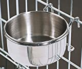 Bonka 800114 Stainless Steel 10 oz Cage Coop Hook Cup Dog Bird Animal Food Water Bowl Review