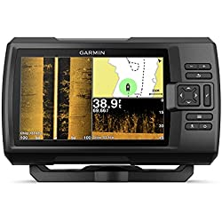 """Garmin Striker 7SV with Transducer, 7"""" GPS Fishfinder with Chirp Traditional, ClearVu and SideVu Scanning Sonar Transducer and Built in Quickdraw Contours Mapping Software"""