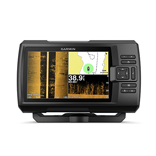"Garmin Striker 7SV with Transducer, 7"" GPS Fishfinder with Chirp Traditional, ClearVu and SideVu Scanning Sonar Transducer and Built in Quickdraw Contours Mapping Software"