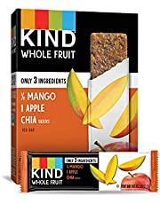 KIND Whole Fruit Bars, Mango Apple Chia, No Sugar Added, Gluten Free, (formally known as Pressed), 1.2 Ounce (24 Count)
