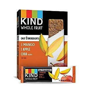 Pressed by KIND Fruit Bars, Mango Apple Chia, No Sugar Added, Gluten Free, 1.2oz, 24 Count