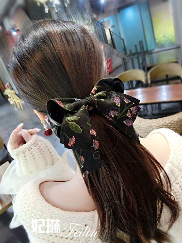 Price comparison product image Korean Hair Accessories Hairpin top Folder Woman Gift Ideas Prints, Cross-Bow Spring Ponytail Clip (Black