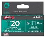 Arrow Fastener 206 3/8'' T20 Staples