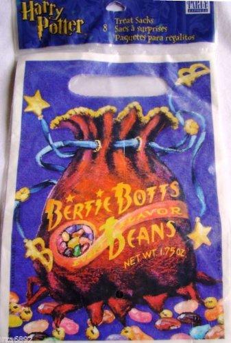 Harry Potter Bertie Botts Beans Party Treat Bag Sack Pkg of 8