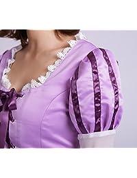 8014 - Vestido de princesa Rapunzel enredado para mujer adulta, color morado