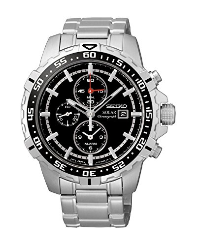Supply Power Seiko (Seiko Men's SSC299P1 Solar Black Watch)