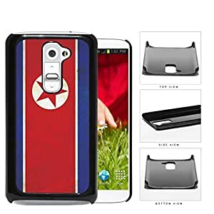 North Korean Flag Dirty Grunge Hard Plastic Snap On Cell Phone Case LG G2 by ruishername