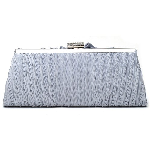 Gold Closure Lady Evening Pleated Clutch Handbag Women's Snap Damara Wedding Bag vRwSTtvqx