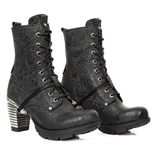 tr001x Mujer Rock Gótico Negro Heavy Punk Tacón Urban Chica New Botines M s4 Cordones AEHwAdIx