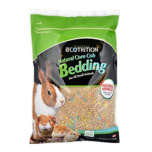 eCOTRITION Natural Corn Cob Bedding for Small Animals, 10-Liter (P-84155)