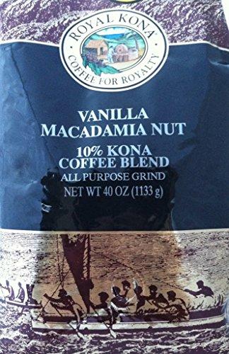 Peerage Kona Coffee Vanilla Macadamia Nut 10% Kona Coffee (Ground) - 2.5 Pound Bag