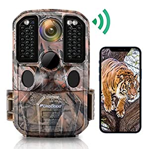 Flashandfocus.com 51h59403ecL._SS300_ WiFi Trail Camera, usogood 24MP 1296P Game Cameras with IR Night Vision Motion Activated Waterproof Hunting Cam Wireless…