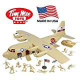 TimMee Plastic Army Men C130 Playset - Tan 27pc