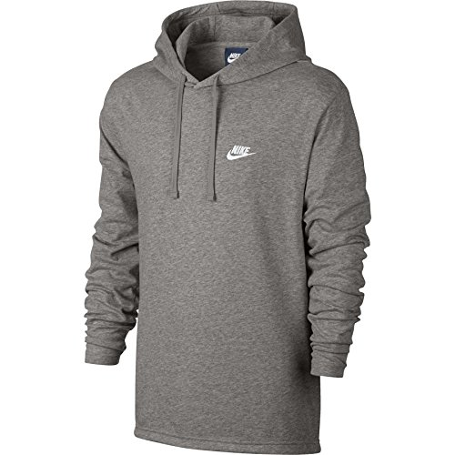 Men's Nike Sportswear Hoodie Dark Grey Heather/White Size XX-Large