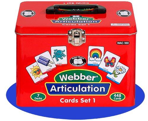 Set of 7 Webber Articulation Card Decks (Combo Set 1) - Super Duper Educational Learning Toy for Kids by Super Duper® Publications